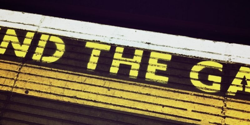 "illustrierendes Bild ""Mind the Gap"" zum Thema ""Digitalkultur"""